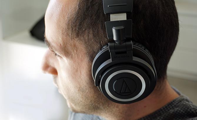 אוזניות בלוטות' אלחוטיות ATH-M50xBT של אודיו-טכניקה (Audio Techinca)