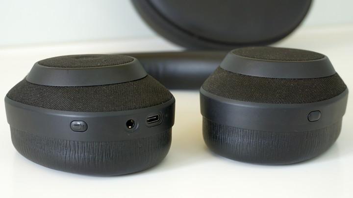 חיבורים וכפתורים של אוזניות מסננות רעשים Jabra Elite 85h