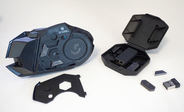 האביזרים של Logitech G502 Lightspeed עכבר הגיימרים והגיימינג עם תוספת משקולות