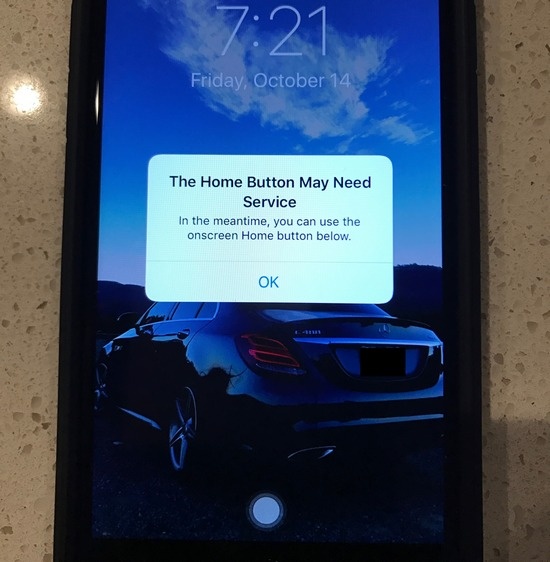 iPhone 7 home button failed